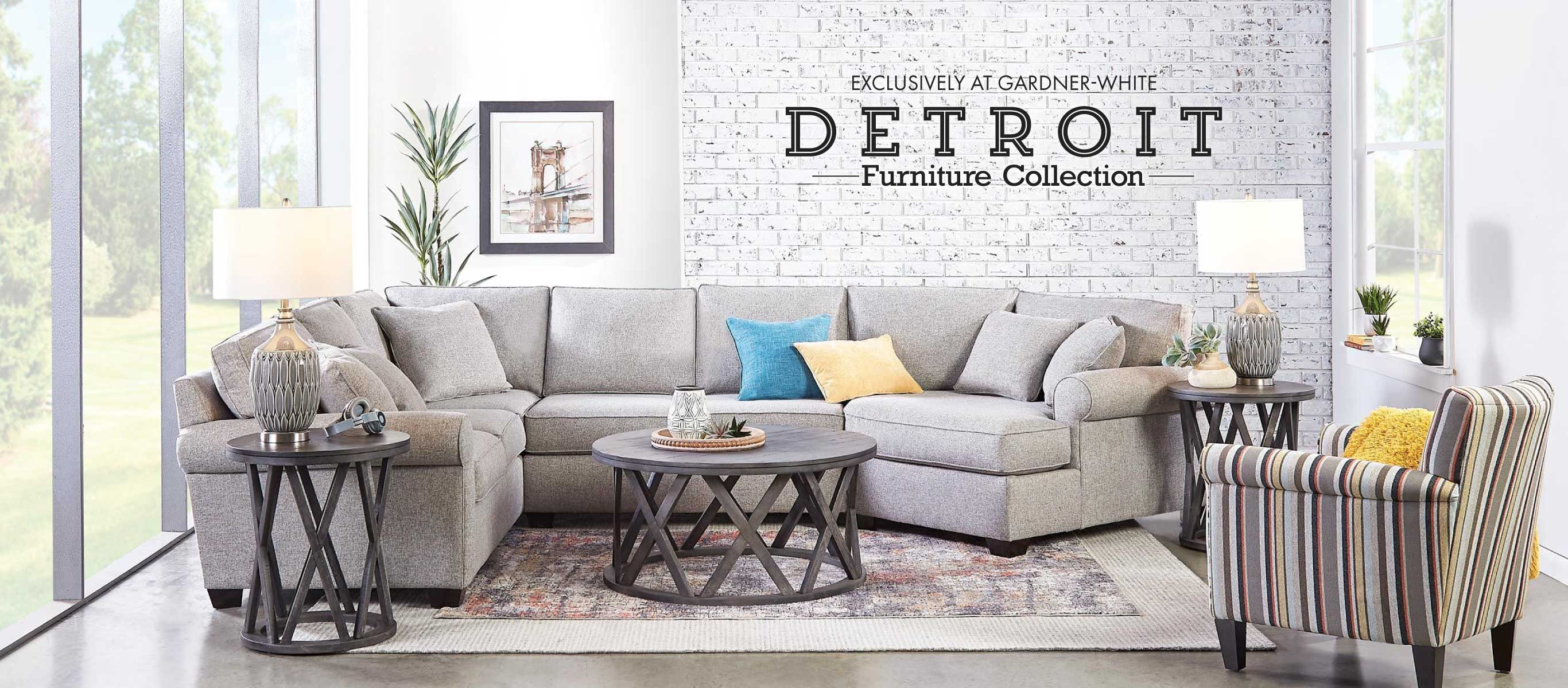 Exclusively at Gardner-White: Detroit Furniture Collection